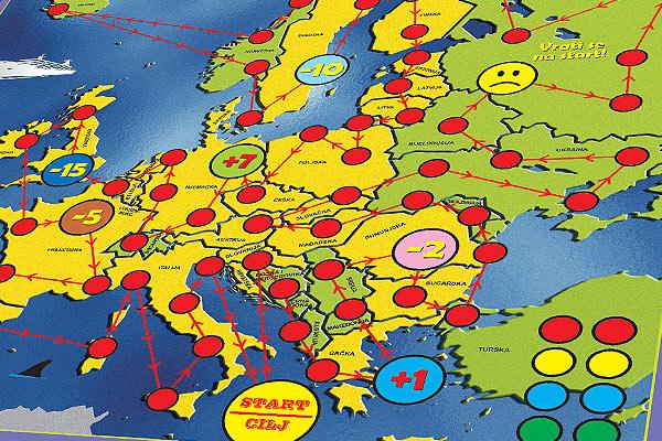 Čovječe ne ljuti se Putuj Europom
