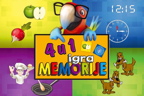 edukativna Igra memorije 4u1